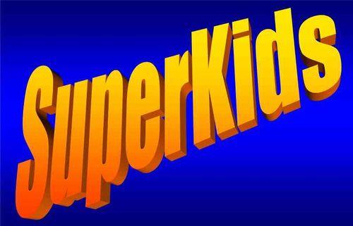 Superkids Blue Background