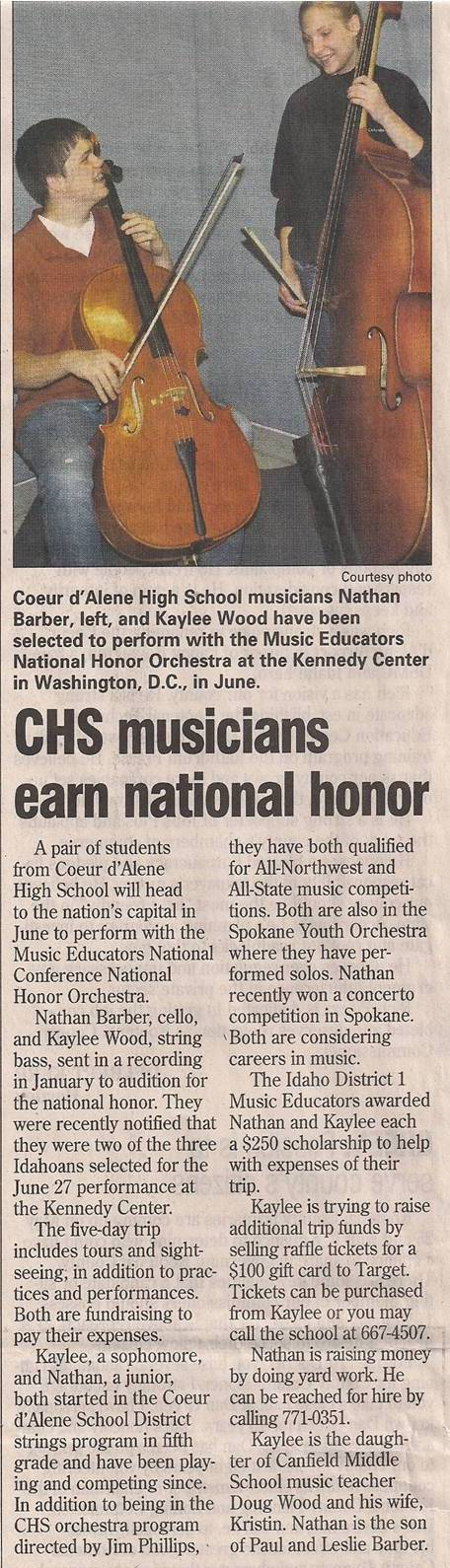 Nathan honor orchestra